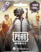 PUBG Mobile 3000 + 850 UC (Global) (3850 Uc)